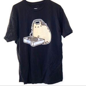 Pusheen DJ Tee Shirt XL cat anime style t-shirt